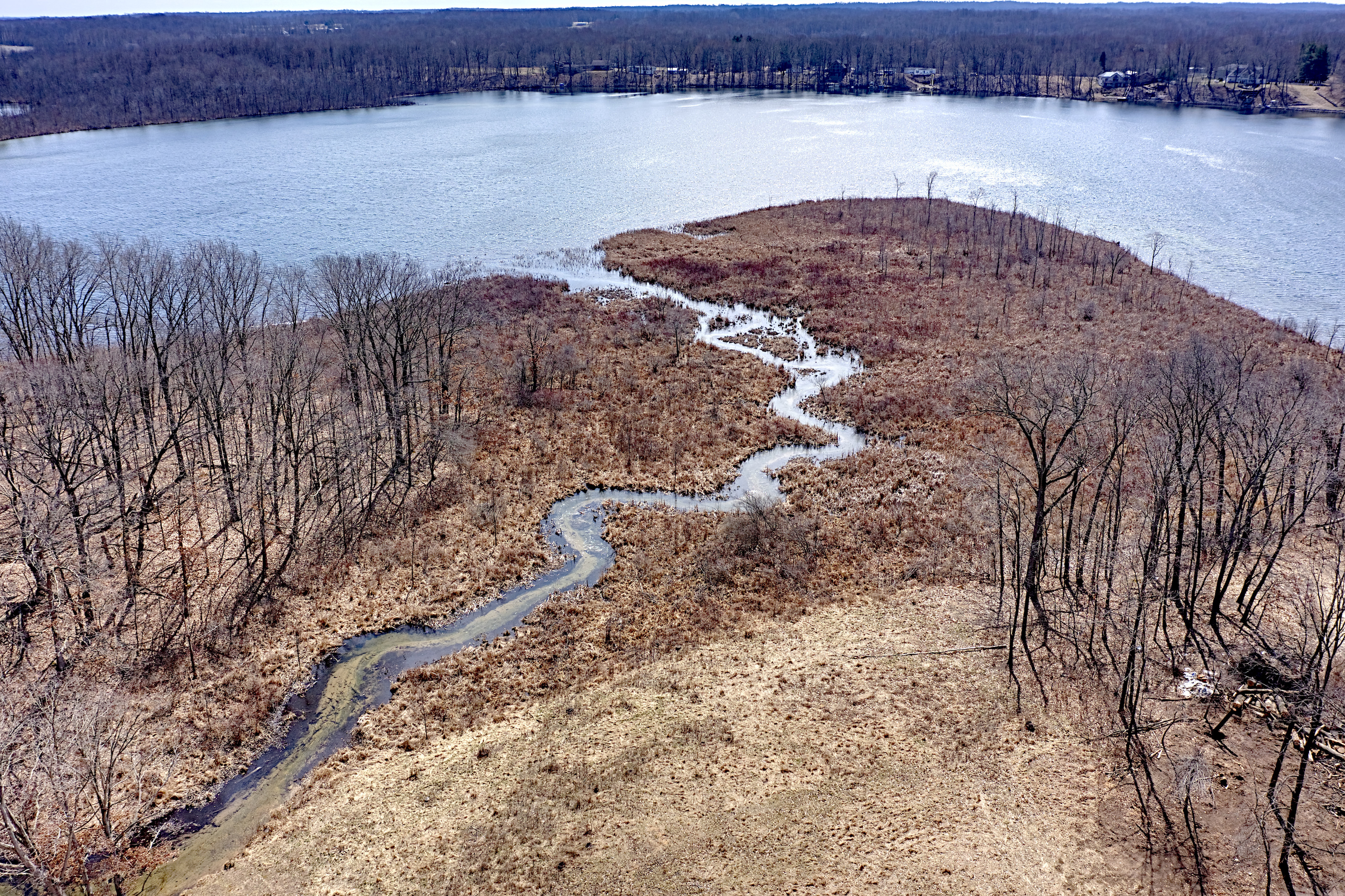 Paradise Lake vacant land for sale, 500+ feet lake frontage